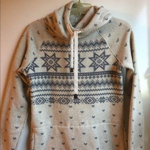 ROOTS SWEATER HOODIE CREAM & BLUE SIZE XS-TP